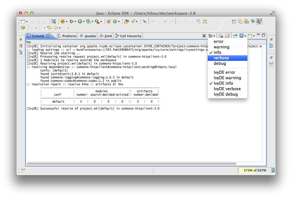 Ivy Console | Apache IvyDE™