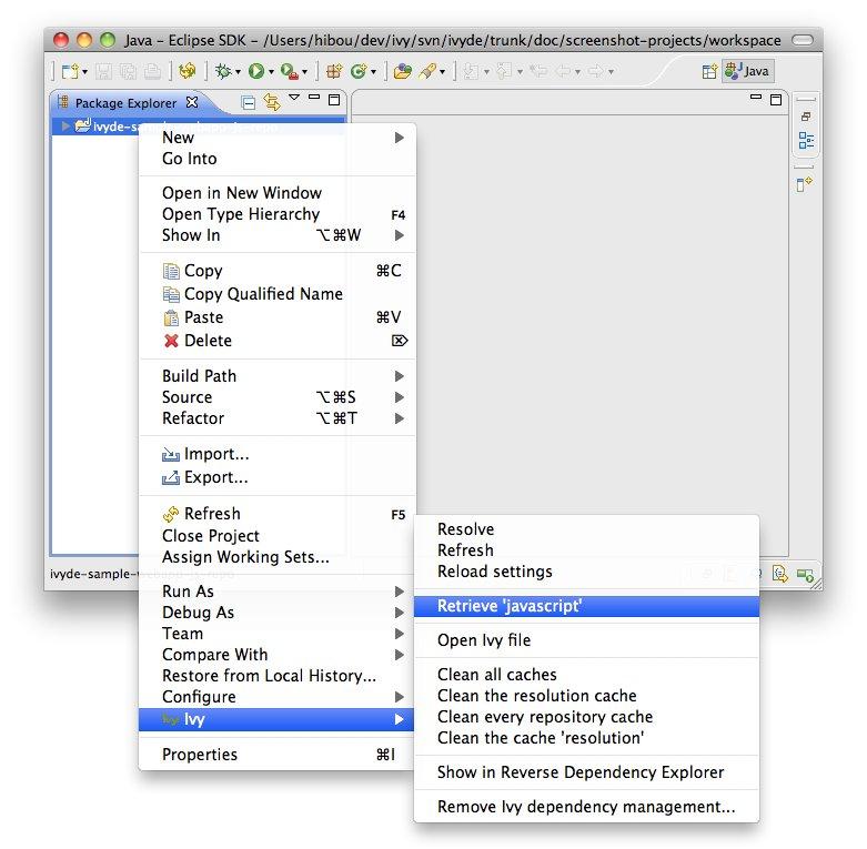 Non-Java dependencies | Apache IvyDE™