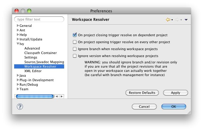 Eclipse global preferences   Apache IvyDE™